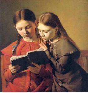 Les Petites filles modèles'' peinte en 1826 par Constantin Hansen